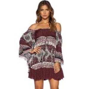 FREE PEOPLE Scarlt Combo HEART OF GOLD Dress M NWT